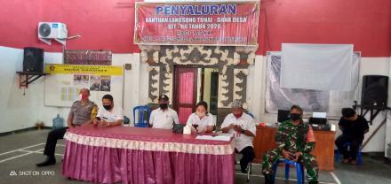 penyaluran BLT DD Tahap Ke-5 untuk Masyarakat RTM Desa sangsit.
