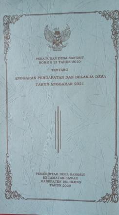 Peraturan Desa Sangsit Nomor 13 tahun 2020 tentang Anggaran Pendapatan dan Belanja Desa Tahun Anggar