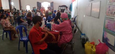 Kegiatan Vaksinasi Hari pertama dan Hari kedua  Desa Sangsit