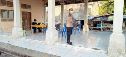 Pembuatan Posko Penyekatan Virus Covid-19 di PPI Desa Sangsit